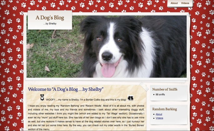 A Dog's Blog ...by Shelby